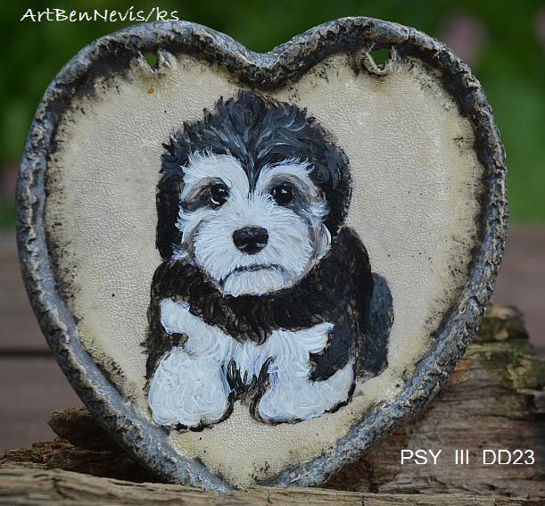 Our paintings and figurines Dandie Dinmont terrier